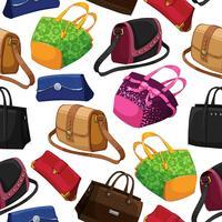 Fond de sacs de mode femme sans couture vecteur