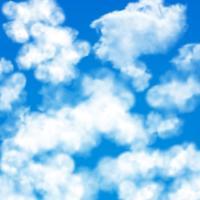 Modèle sans couture de nuages ciel vecteur