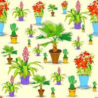 Motif de fleurs de bureau sans soudure vecteur