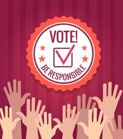 Affiche de vote aux élections