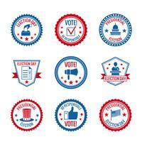 Jeu d'étiquettes d'élections vecteur