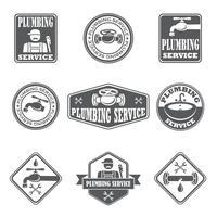 Insignes de service de plomberie vecteur