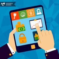 Concept de banque en ligne vecteur