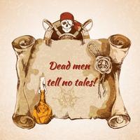 Fond de pirates vintage vecteur
