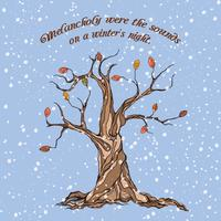 Affiche arbre d'hiver