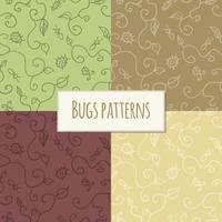 Motif de bugs sans soudure vecteur