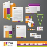Modèle d'identité d'entreprise vecteur