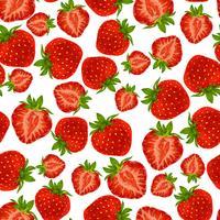 Modèle sans couture aux fraises vecteur