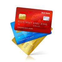 Cartes de crédit réalistes vecteur