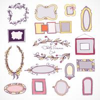 Collection d'éléments de design doodle dessinés à la main vecteur