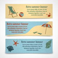 Bannières de vacances d'été horizontales