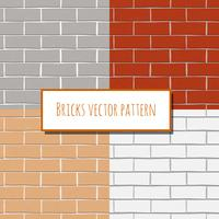 Modèle rectangulaire de mur de briques sans soudure vecteur