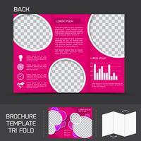 Modèle de brochure tri pli vecteur