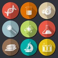 Symboles de la science plat