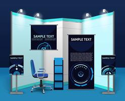 Modèle de stand d'exposition promotionnelle