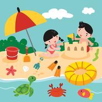 jouets de plage vecteur
