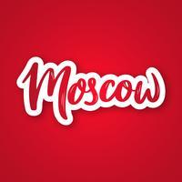 Moscou - expression de lettrage dessiné à la main.