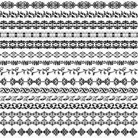 motif de bordure noire ornée vecteur