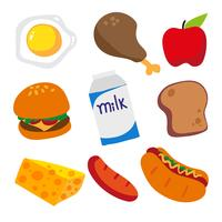 conception de la collection alimentaire vecteur