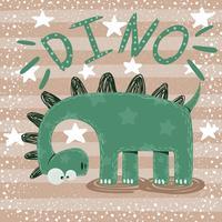 Personnages de dinosaures mignons, drôles et fous. vecteur
