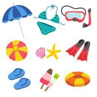conception de jouets de plage vecteur