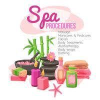Illustration des procédures de spa vecteur