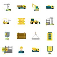 Icônes de construction plats