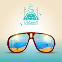 Affiche d'été de lunettes de soleil