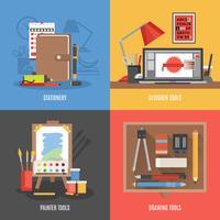 Outils de dessin Icon Set