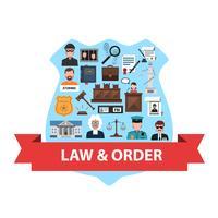 concept de droit plat vecteur