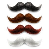 Jeu de couleurs de fausses moustaches vecteur