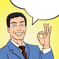 Homme de panneau de livre de bandes dessinées vintage vecteur