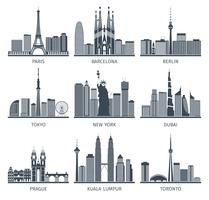 Urban Skylines Icons Set