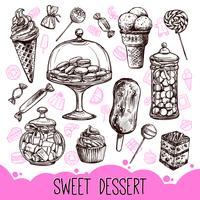 Dessert Doux vecteur