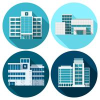 Bâtiments de l'hôpital plat