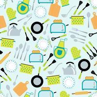 Modèle sans couture de cuisine accessoires