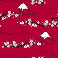 Motif de fleurs japonaises