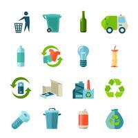 Ensemble d'icônes de recyclage