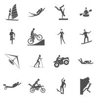 Icônes de sports extrêmes vecteur
