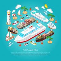 Concept de la mer et des navires