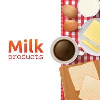 Concept lait et produits laitiers vecteur