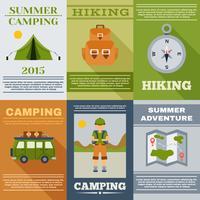 Ensemble d'affiches de camping