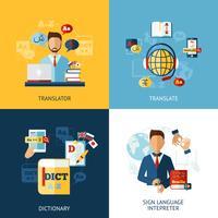 Kit de traduction de langue vecteur