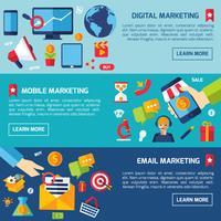 Ensemble de bannières de marketing numérique