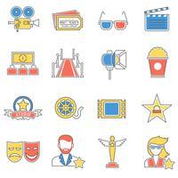 Ligne d'icônes de film vecteur