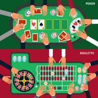 Jeu de bannière de jeu de casino vecteur