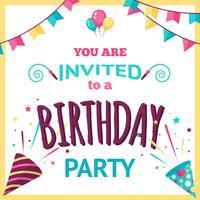 Illustration d'invitation à une fête vecteur