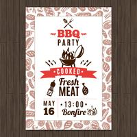 Affiche de fête de barbecue vecteur