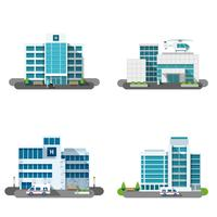 Ensemble de construction d'hôpital vecteur