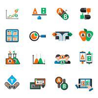 Ab Testing Icons Set vecteur